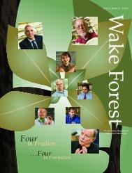 Wake Forest Magazine - Past Issues - Wake Forest University