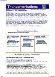Bulletin num. 31 du 25-01-2011 - Institut des Amériques