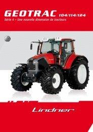 Prospectus Geotrac Serie 4 français - Lindner Traktoren