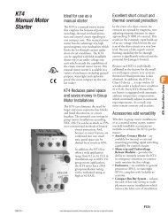 KT4 Manual Motor Starter - E-Catalog - Sprecher + Schuh