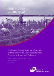 Productive Safety Nets for Women in Extreme Poverty - Institute of ...