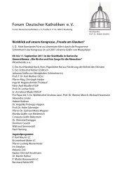 Rückblick auf die Kongresse - Forum Deutscher Katholiken