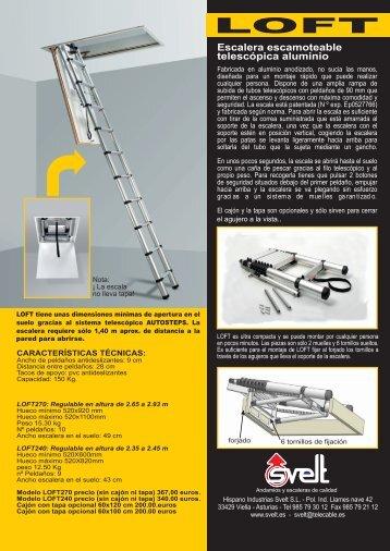 ficha tcnica de la escalera telescpica logismarket
