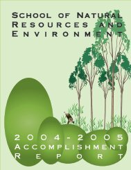 2004-2005 - College of Natural Resources and Environment