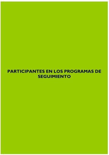 PARTICIPANTES EN LOS PROGRAMAS DE SEGUIMIENTO