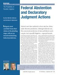 Federal Abstention and Declaratory Judgment Actions - DRI Today