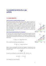 Le proprietà termiche di un gas perfetto - francescopoli.net