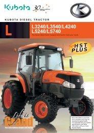 L L3240/L3540/L4240 L5240/L5740 HST PLUS HST PLUS - Kubota