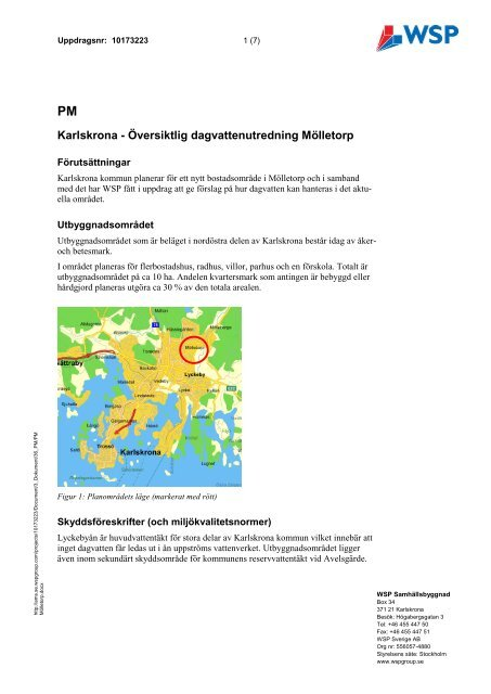 Dagvattenutredning, pdf, 1 MB - Karlskrona kommun