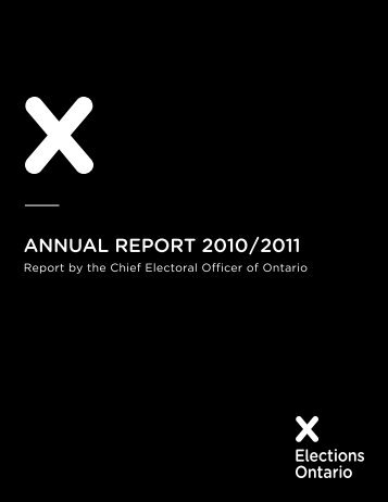 Annual Report 2010/2011 - Elections Ontario