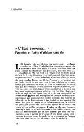 Pygmées et forêts d'Afrique centrale - Politique Africaine