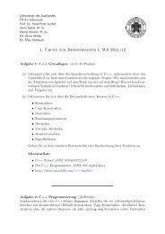 1. ¨Ubung zur Bioinformatik I, WS 2011/12 - Universität des ...