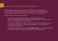 En bref : que fait Amnesty International ? - amnesty.be
