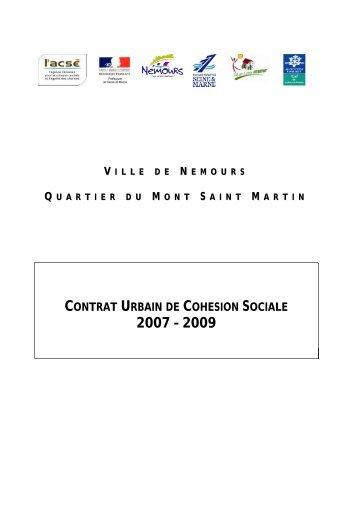 contrat urbain de cohésion sociale de Nemours - SIG Politique de la ...