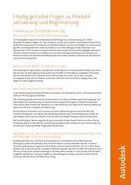 Häufig gestellte Fragen zu Produkt- aktivierung und Registrierung