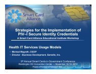 Strategies for the Implementation of PIV–I Secure Identity Credentials