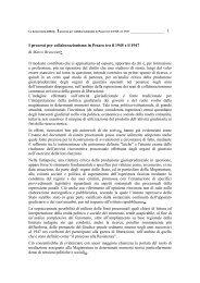 I processi per collaborazionismo in Pesaro tra il 1945 e il 1947 di ...