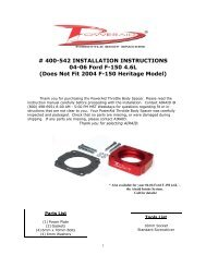 # 400-542 INSTALLATION INSTRUCTIONS 04-06 Ford F ... - Airaid