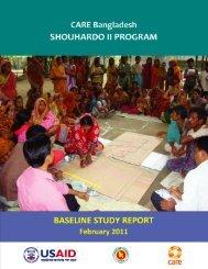 SHOUHARDO II Baseline Study Report - CARE International's ...