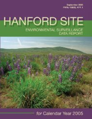 Hanford Site Environmental Surveillance Data Report for Calendar ...