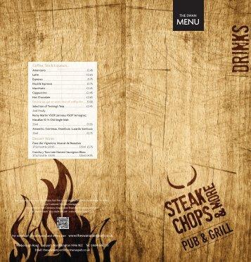 Spring 2013 Wine Menu - Mcmanus Pub Company