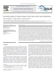 Forecasting impacts of climate change on Great Lakes surface water ...