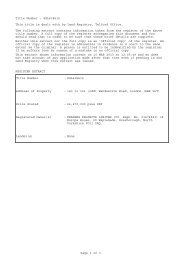 Title Number : SGL438615 This title is dealt with by Land Registry ...