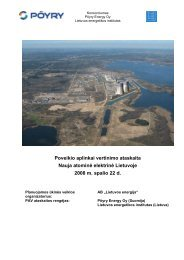 Poveikio aplinkai vertinimo ataskaita LT 1 dalis - Visagino atominės ...