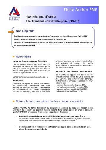 Fiche Action PME - CGPME Paris Ile de France