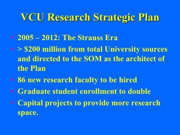 VCU Research Strategic Plan - Virginia Commonwealth University ...