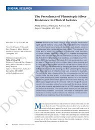 The Prevalence of Phenotypic Silver Resistance in ... - Wounds