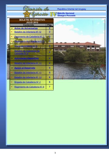 Boletín Informativo - JULIO 2012 - Ejército Nacional