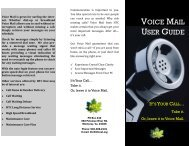 Voice Mail User Guide