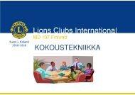 kokoukset - Suomen Lions-liitto ry