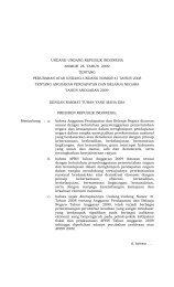 UU 26 Tahun 2009