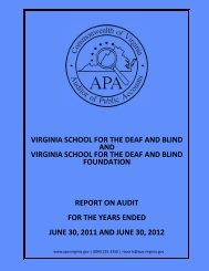 Virginia School for the Deaf and Blind and the Virginia School for the ...