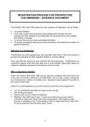 registration process for prospective childminders - guidance document