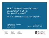 FFIEC Authentication Guidance Examination in 2012 - Davis Wright ...