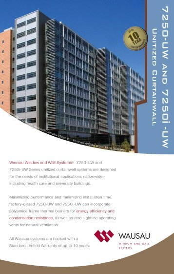 Wausau 7250i-UW Thermal Unitized Curtainwall Brochure