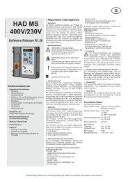 HAD MS 400V/230V - tormatic