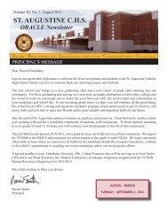 August 2011 Newsletter - St. Augustine CHS