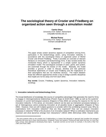 The sociological theory of Crozier and Friedberg on - New England ...