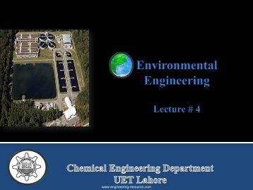 Sewage and Effluent Treatment - the engineering resource