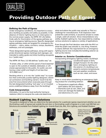 Providing Outdoor Path of Egress - Dual-Lite  sc 1 st  Yumpu & Solution 6: Central Light