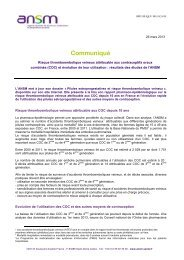 Risque thromboembolique veineux attribuable aux ... - ANSM