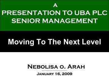 The Nigerian Banking Industry - UBA Plc