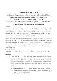 AVVISO AI SENSI DEGLI ARTT - Regione Lombardia