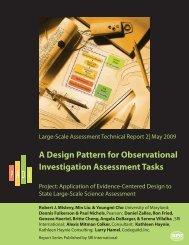 A Design Pattern for Observational Investigation Assessment Tasks
