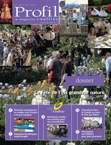 Profil de mai 2009 - Ville d'Oullins