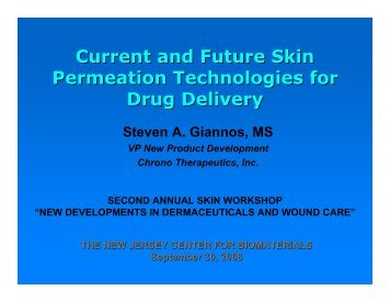 Current and Future Skin Permeation Technologies for Drug Delivery